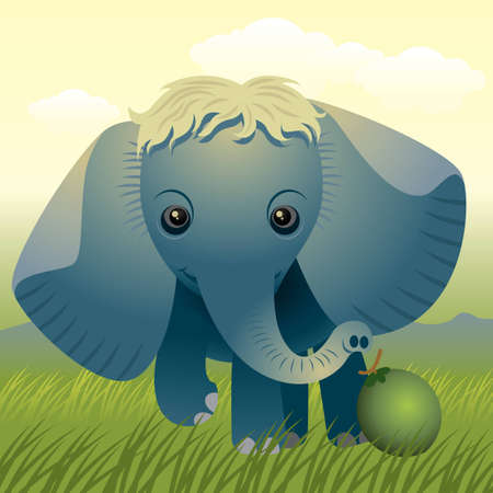 Baby Animal collection: Elephant Stock Vector - 4264044