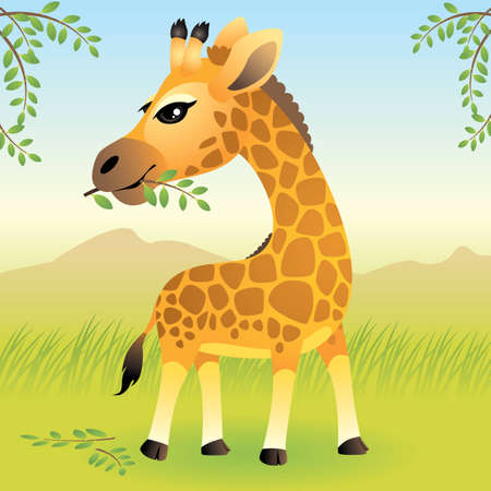 Baby Animal collection: Giraffe Illustration