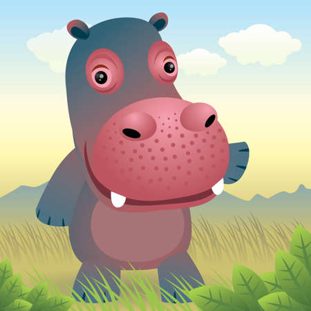 Baby Animal collection: Hippo Stock Vector - 4264046