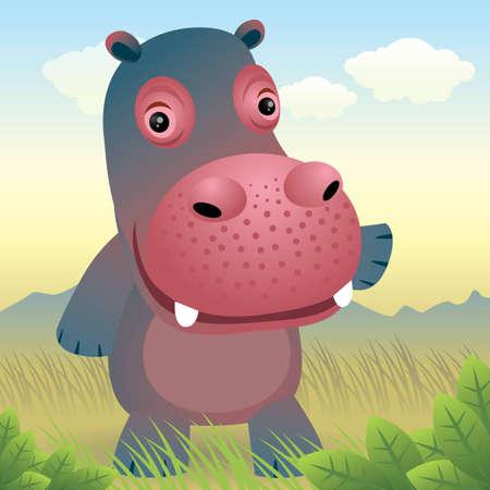 flusspferd: Baby Animal Sammlung: Hippo