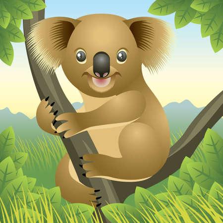 coala: Beb� animal colecci�n: Koala Vectores