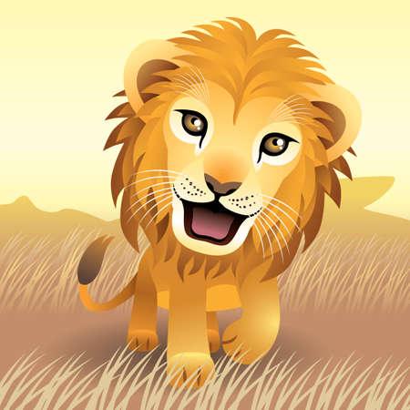 Baby Animal collectie: Lion Stock Illustratie