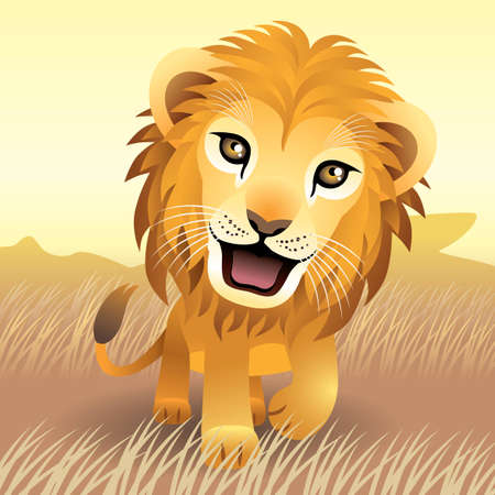 Baby Animal collection: Lion Vector
