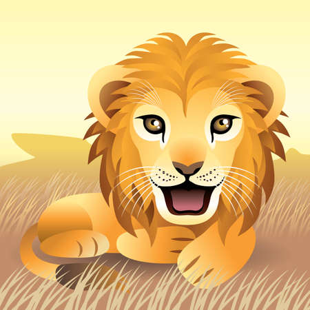Baby Animal collection: Lion Illustration