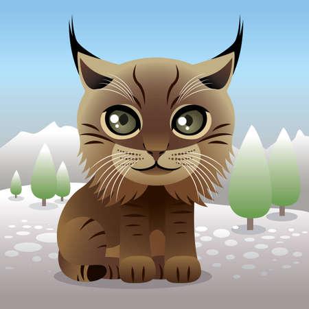 lince: Baby colecci�n de animales: Lynx Vectores