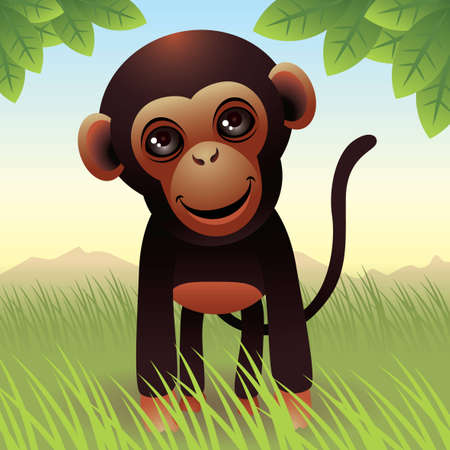 Baby Animal collection: Monkey Vector