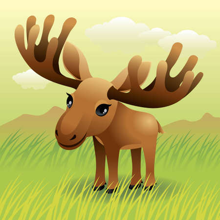 Baby Animal collection: Moose Vector