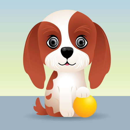 animation: Baby Animal collection: Puppy Dog Illustration