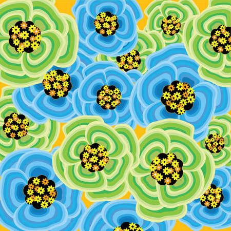 Green spring flower burst Vector