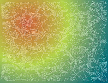 Oriental flower wallpaper Vector