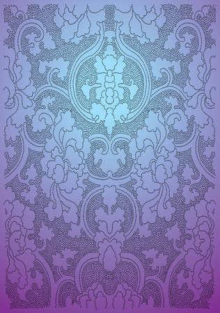 etre diff�rent: Oriental fleurs de papier peint - Vector EPS8 format. Vous pouvez utiliser n'importe quel logiciel compatible avec des vecteurs d'ouvrir  modifier  utiliser le fichier. Les diff�rents graphiques sont sur des couches de sorte qu'ils peuvent facilement �tre adapt�es individuellement. Scalable � n'importe quelle taille sans perte de qualit�. Illustration