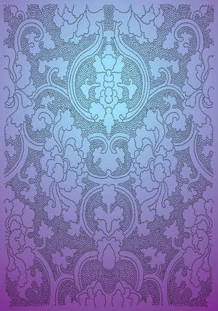 Oriental flower wallpaper - Vector EPS8 format. You can use any vector compatible software to openmodifyuse the file. The different graphics are on separate layers so they can be easily edited individually. Scalable to any size without loss of quality. Vector