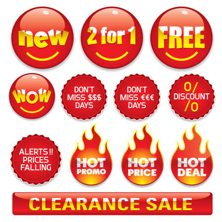 cheap prices: Sale stickers #2- Vector EPS8 format. You can use any vector compatible software to openmodifyuse the file. The different graphics are on separate layers so they can be easily edited individually. Scalable to any size without loss of quality. Illustration