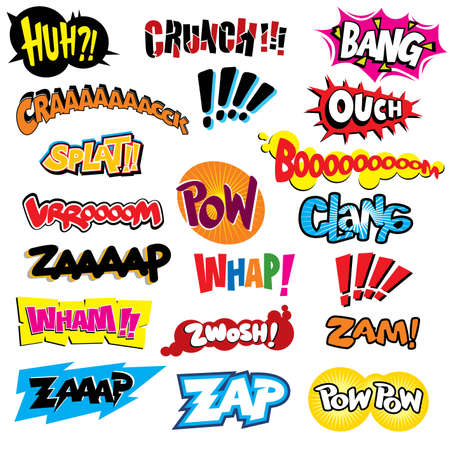 Comic book explosion - Vector EPS8 format. You can use any vector compatible software to open/modify/use the file. The different graphics are on separate layers so they can be easily edited individually. Scalable to any size without loss of quality. Stock Vector - 4353544