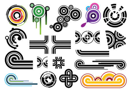 Creative set #22 - Vector EPS8. You can use any vector compatible software to open/modify/use the file. The different graphics are on separate layers so they can be easily edited individually. Scalable to any size without loss of quality. Stock Vector - 4440746