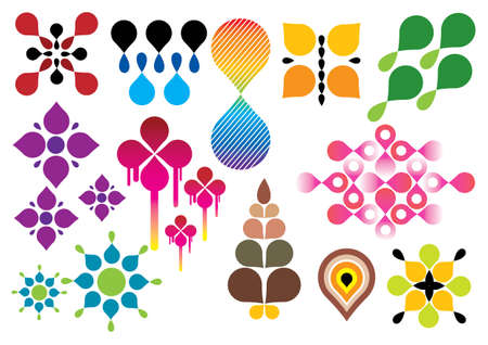abstract vectors: Creative set #23 - Vector EPS8. You can use any vector compatible software to openmodifyuse the file. The different graphics are on separate layers so they can be easily edited individually. Scalable to any size without loss of quality.