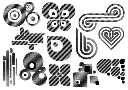 Creative set #25 - Vector EPS8. You can use any vector compatible software to openmodifyuse the file. The different graphics are on separate layers so they can be easily edited individually. Scalable to any size without loss of quality.