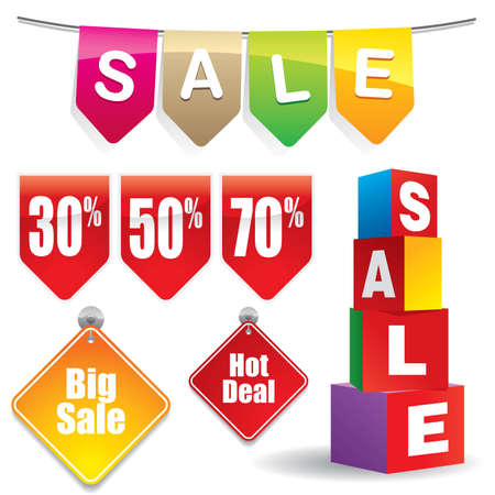 Sale sticker #4 - Vector EPS8. You can use any vector compatible software to open/modify/use the file. The different graphics are on separate layers so they can be easily edited individually. Scalable to any size without loss of quality. Stock Vector - 4503052