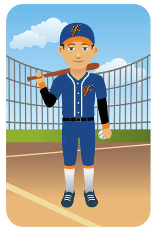 Sport series: Baseball player - Vector EPS8. You can use any vector compatible software to open/modify/use the file. The different graphics are on separate layers so they can be easily edited individually. Scalable to any size without loss of quality. Stock Vector - 4515818