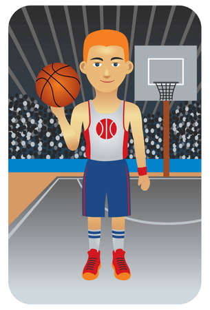 Sport series: Basketball player - Vector EPS8. You can use any vector compatible software to openmodifyuse the file. The different graphics are on separate layers so they can be easily edited individually. Scalable to any size without loss of quality. Vector
