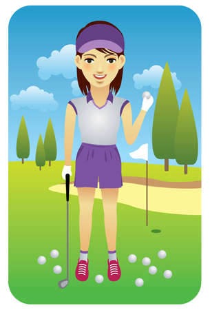 Sport series: Golfer - Vector EPS8. You can use any vector compatible software to openmodifyuse the file. The different graphics are on separate layers so they can be easily edited individually. Scalable to any size without loss of quality.