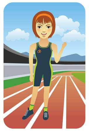 running track: Sport series: Runner - Vector EPS8. You can use any vector compatible software to openmodifyuse the file. The different graphics are on separate layers so they can be easily edited individually. Scalable to any size without loss of quality.