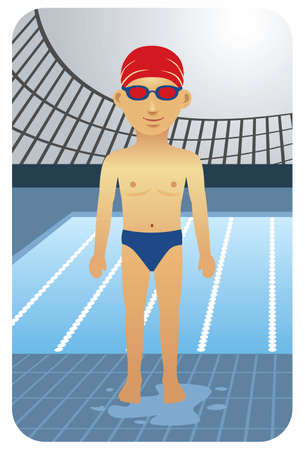 Sport series: Competitive swimmer - Vector EPS8. You can use any vector compatible software to openmodifyuse the file. The different graphics are on separate layers so they can be easily edited individually. Scalable to any size without loss of quality. Vector