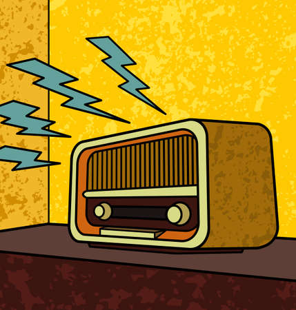50s: Retro radio - Vector EPS8. You can use any vector compatible software to openmodifyuse the file. The different graphics are on separate layers so they can be easily edited individually. Scalable to any size without loss of quality.