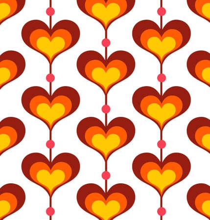 siebziger jahre: Herzf�rmige Hintergrund - Vector EPS8. Sie k�nnen eine beliebige Vektor-kompatible Software zum �ffnen  �ndern  Verwendung der Datei. Die verschiedenen Grafiken auf separaten Ebenen, so dass sie leicht editiert werden. Skalierbar auf jede Gr��e ohne Verlust der Qualit�t. Illustration