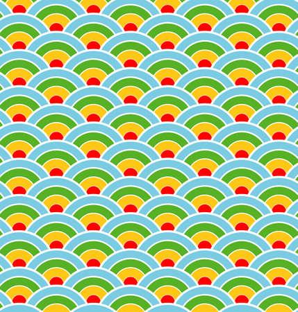 Seamless circle background - Vector illustration.