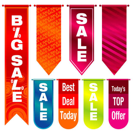 Vector illustration of colorful sale tags - visit my gallery for more sale illustrations. Ilustracja