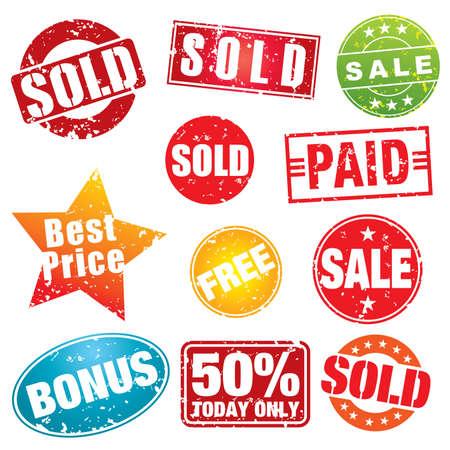 Set of colorful sale stencils - more sale illustrations in my portfolio.