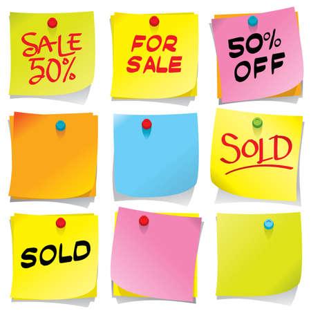 sticky notes: Helder gekleurde memoblokjes