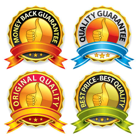 Set of best price and quality guaranteed seals. More in my gallery. Vector