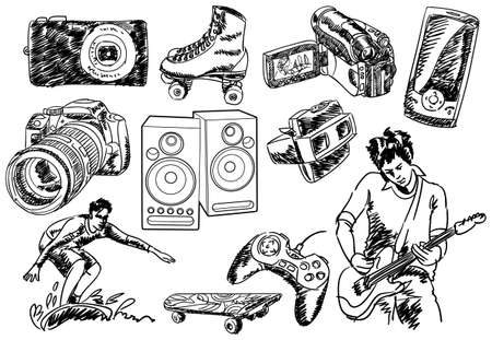 skateboarding: Creative set #26 - Visit my portfolio for different design elements. Illustration