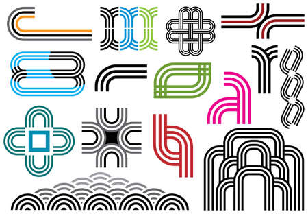 Creative set #28 - Visit my portfolio for various design elements and illustrations.
