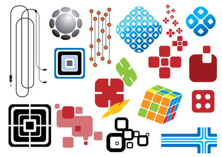 Creative set #29 - Collection of various design elements, visit my portfolio for more elements and illustrations. Stock Vector - 4798077