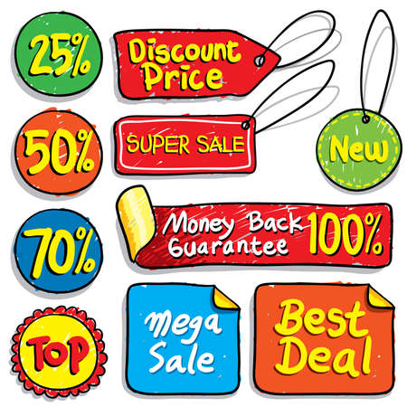 Sale doodles - Much more sale illustrations in my portfolio. Stock Vector - 4809624
