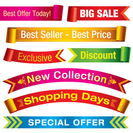 Discount banners - Visit my portfolio for more sale illustrations. Stock Vector - 4809626