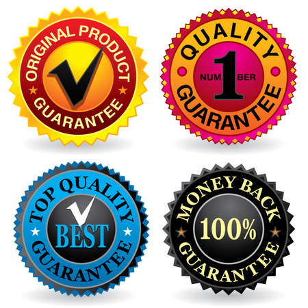 Quality labels - Visit my gallery for other labels and icons. Vector