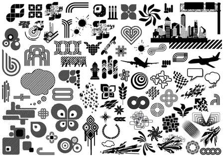 Value Pack: 100 black and white design elements. More in my portfolio.
