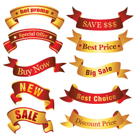 Discount banners - Visit my portfolio for similar illustrations and vectors. Stock Vector - 4825286