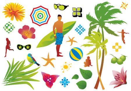 Summer design elements - Much more illustrations and vectors in my gallery. Vector
