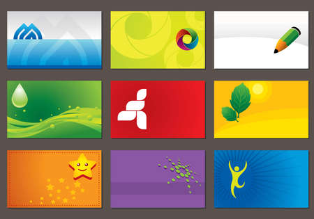 Set of various business cards. You can edit the cards by adding your name and company name. Vector