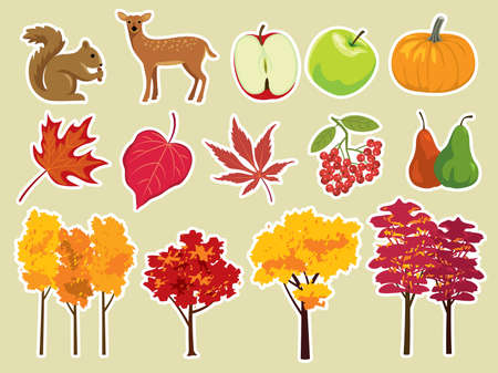 Various nature and autumn elements. More illustrations in my portfolio.