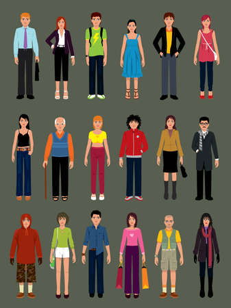 fashion vector: Pack of people in various situations. More illustrations in my portfolio.