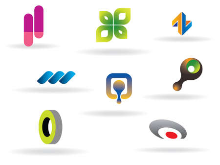 Logo Collection. Use to create your company logo. All elements fully editable and scalable.