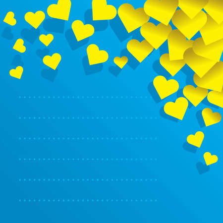 secret love: love Stationary. Vector illustration of stationary decorated with hearts. Use to spread the love!