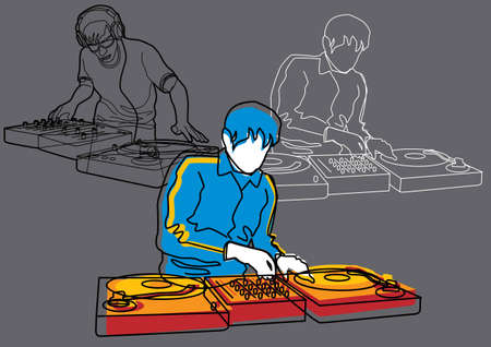 electro: Music Set #4: DJ Illustration