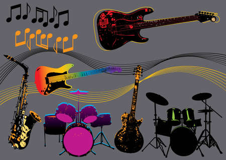 Music Set #6: Music Instruments. Vector